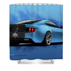 2014 Stang Rear Shower Curtain