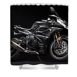 2014 Triumph Daytona 675 Disalvo Edition Shower Curtain