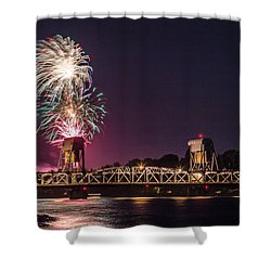 2015 Fireworks Show Shower Curtain