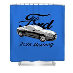 2015 Ford Mustang Shower Curtain