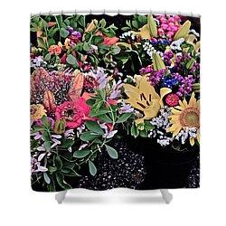 2015 Monona Farmers Market Flowers 1 Shower Curtain