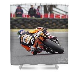 2015 Moto Grand Prix Shower Curtain by Blair Stuart