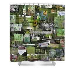 2015 Pdga Amateur Disc Golf World Championships Photo Collage Shower Curtain