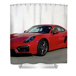 2015 Porsche Cayman Gts Shower Curtain