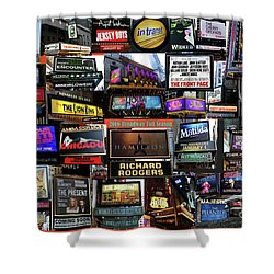 Shower Curtain featuring the photograph 2016 Broadway Fall Collage by Steven Spak