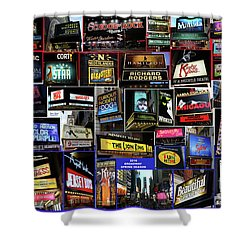 2016 Broadway Spring Collage Shower Curtain