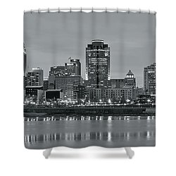 Shower Curtain featuring the photograph 2016 Cincinnati Panorama by Frozen in Time Fine Art Photography
