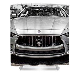 2016 Silver Maserati Ghibli Shower Curtain