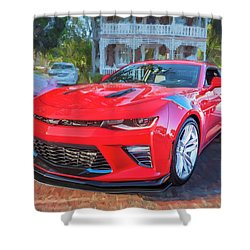 Shower Curtain featuring the photograph 2017 Chevrolet Camaro Ss2  by Rich Franco
