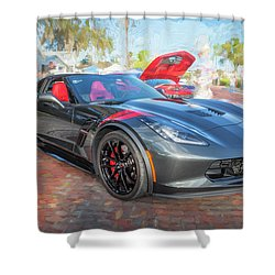 Shower Curtain featuring the photograph 2017 Chevrolet Corvette Gran Sport  by Rich Franco