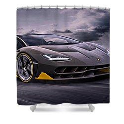 2017 Lamborghini Centenario Shower Curtain