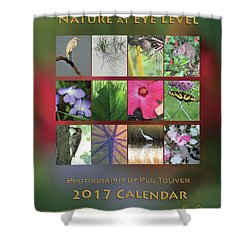 Shower Curtain featuring the photograph 2017 Nature Calendar by Peg Toliver