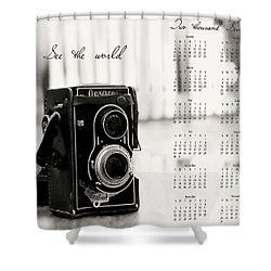 Shower Curtain featuring the photograph 2017 See The World Wall Calendar by Ivy Ho
