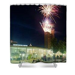 2017 Three Rivers Festival Aep Fireworks Shower Curtain