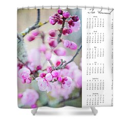 Shower Curtain featuring the photograph 2017 Wall Calendar Cherry Blossoms by Ivy Ho