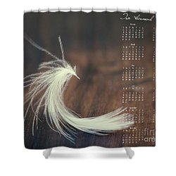 Shower Curtain featuring the photograph 2017 Wall Calendar Feather by Ivy Ho