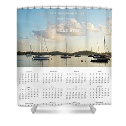Shower Curtain featuring the photograph 2017 Wall Calendar Journey by Ivy Ho