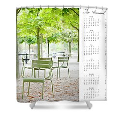 Shower Curtain featuring the photograph 2017 Wall Calendar Paris by Ivy Ho