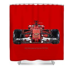 2017scuderia Ferrari Sf70h Shower Curtain