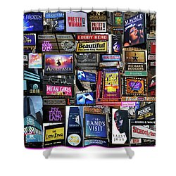 2018 Broadway Spring Collage Shower Curtain