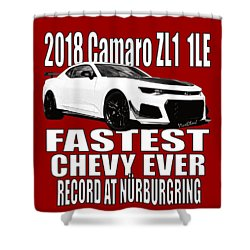 2018 Camaro Zl1 1le Shower Curtain