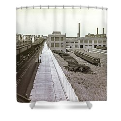 207th Street Subway Yards Shower Curtain