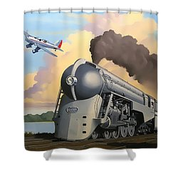 20th Century Limited And Plane Shower Curtain