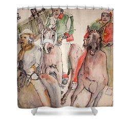 Il Palio Contrada  Lupa Album Shower Curtain by Debbi Saccomanno Chan