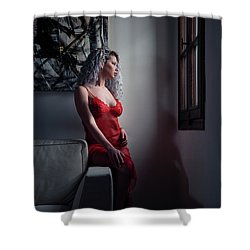 Shower Curtain featuring the photograph Tu M'as Promis by Traven Milovich