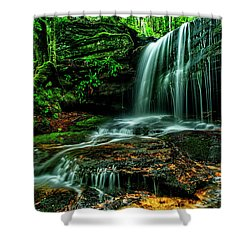 West Virginia Waterfall Shower Curtain
