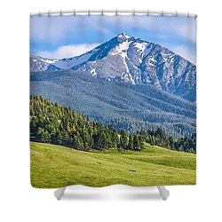 #215 - Spanish Peaks, Southwest Montana Shower Curtain