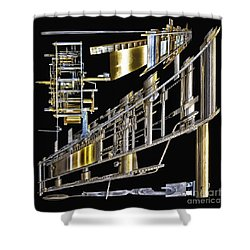 21st Century Erector Set ? Shower Curtain by Walt Foegelle