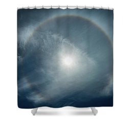Shower Curtain featuring the photograph 22 Degree Solar Halo by William Lee
