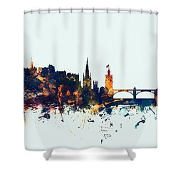 Edinburgh Scotland Skyline Shower Curtain