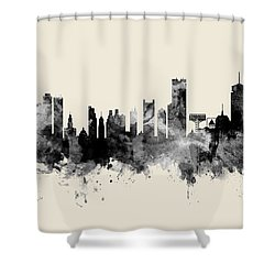 Boston Massachusetts Skyline Shower Curtain