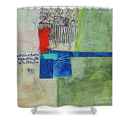 Shower Curtain featuring the mixed media 23 by Elena Nosyreva
