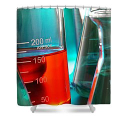 Laboratory Equipment In Science Research Lab Shower Curtain by Olivier Le Queinec