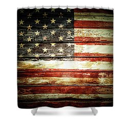 Shower Curtain featuring the photograph American Flag by Les Cunliffe