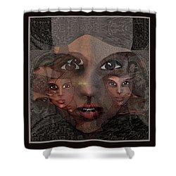 2327- Portrait Fractal 2017 Shower Curtain