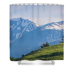 #238 - Spanish Peaks, Southwest Montana Shower Curtain