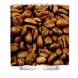 Shower Curtain featuring the photograph Coffee Beans by Les Cunliffe