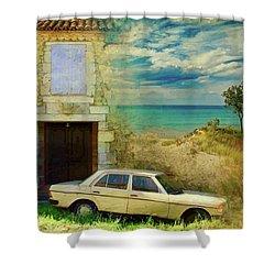 24 Hr Parking By The Beach Shower Curtain
