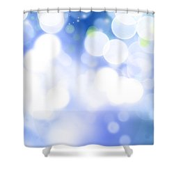 Abstract Circles 45 Shower Curtain