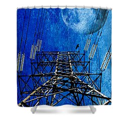 Electric Power Transmission... Shower Curtain by Werner Lehmann