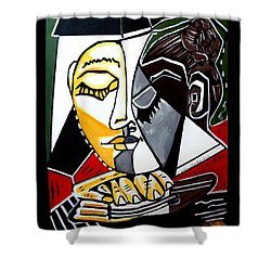 Picasso By Nora Fingers Shower Curtain