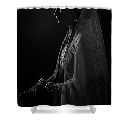 Portrait Of Indian Lady Shower Curtain