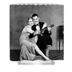 Silent Film Still: Couples Shower Curtain by Granger