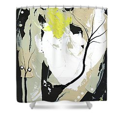 Shower Curtain featuring the painting Three Color Palette by Michal Mitak Mahgerefteh