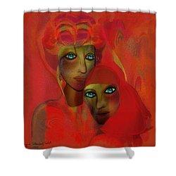 260 - Magic Bonds 2017 Shower Curtain by Irmgard Schoendorf Welch