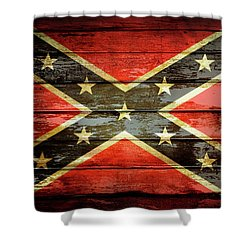 Confederate Flag 2 Shower Curtain
